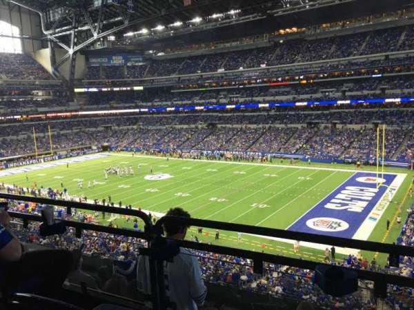 Lucas Oil Stadium, secção: 308, fila: 5w, lugar: 3