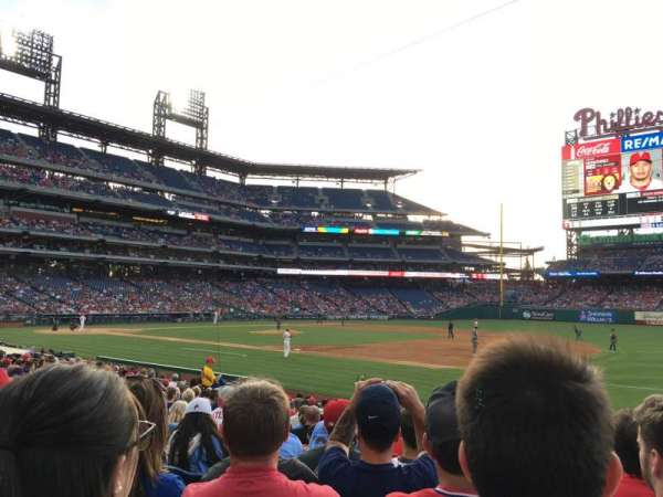 Citizens Bank Park, secção: 113, fila: 17, lugar: 6
