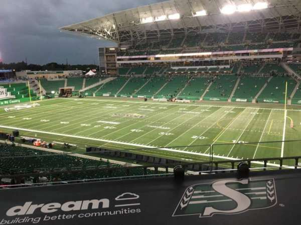 Mosaic Stadium, secção: 333, fila: 1, lugar: 3
