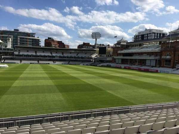 Lord's Cricket Ground, secção: Grandstand A, fila: 10, lugar: 37