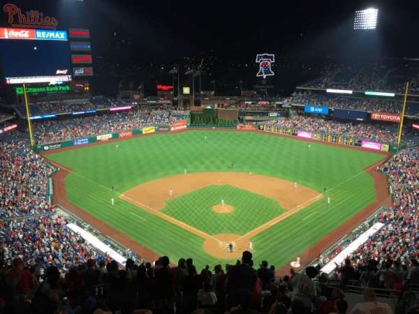 Citizens Bank Park, secção: 421, fila: 16, lugar: 9