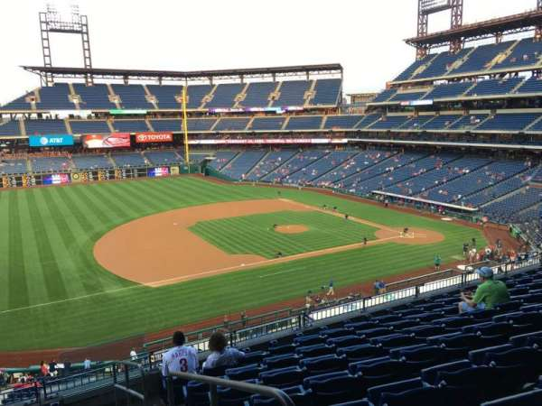 Citizens Bank Park, secção: 231, fila: 8, lugar: 1