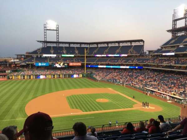 Citizens Bank Park, secção: 229, fila: 8, lugar: 19