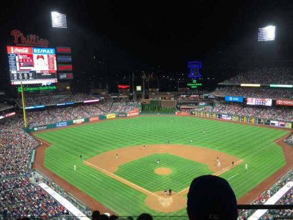 Citizens Bank Park, secção: 421, fila: 7, lugar: 4