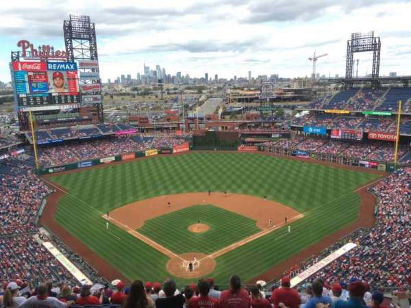 Citizens Bank Park, secção: 420, fila: 16, lugar: 9