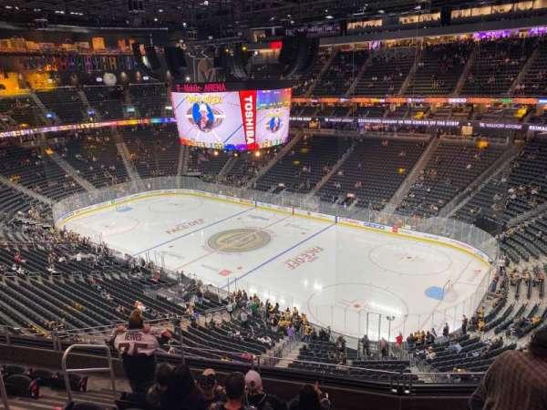 T-Mobile Arena, secção: 209, fila: G, lugar: 7