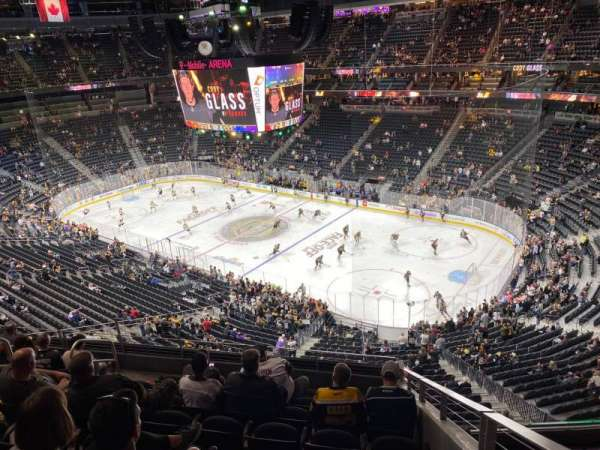 T-Mobile Arena, secção: 227, fila: H, lugar: 9