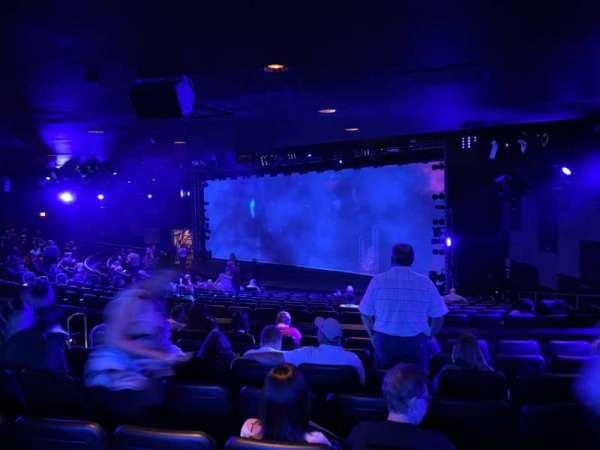 Blue Man Group Theater, secção: 204, fila: Hh, lugar: 61
