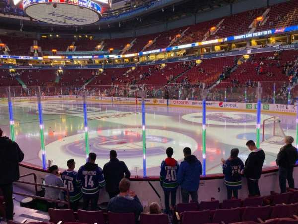 Rogers Arena, secção: 103, fila: 7, lugar: 6