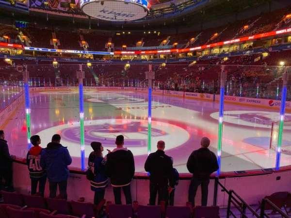 Rogers Arena, secção: 101, fila: 6, lugar: 110