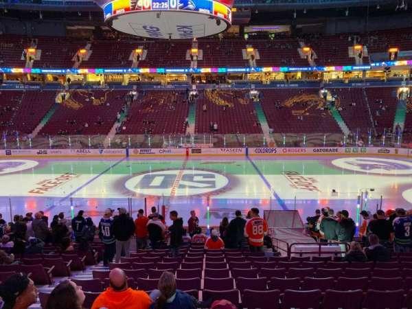 Rogers Arena, secção: 117, fila: 17, lugar: 5