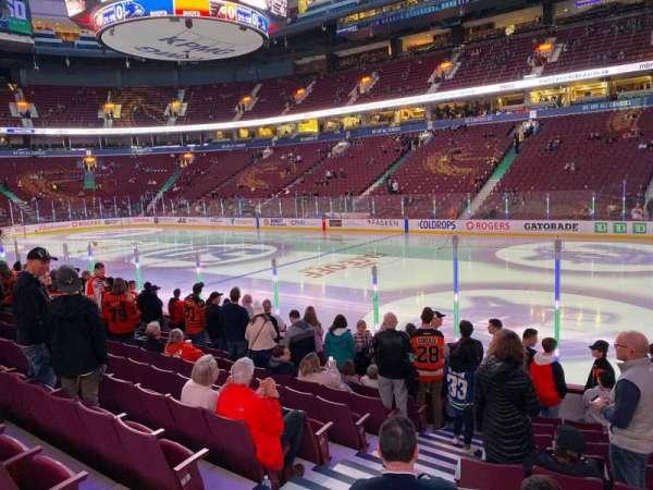 Rogers Arena, secção: 115, fila: 10, lugar: 3