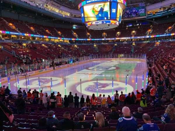 Rogers Arena, secção: 110, fila: 15, lugar: 105