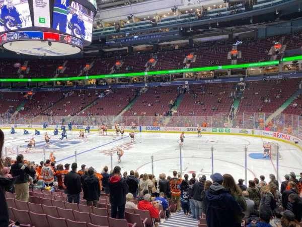 Rogers Arena, secção: 115, fila: 14, lugar: 2