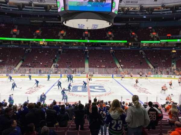 Rogers Arena, secção: 117, fila: 18, lugar: 101