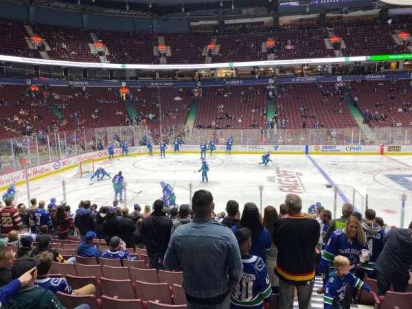 Rogers Arena, secção: 118, fila: 13, lugar: 101