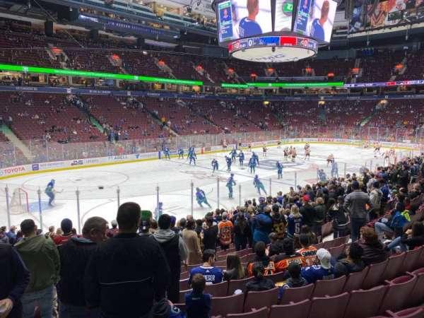Rogers Arena, secção: 120, fila: 16, lugar: 3