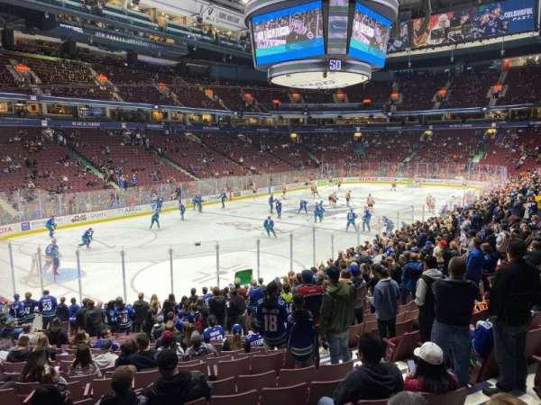 Rogers Arena, secção: 120, fila: 17, lugar: 6