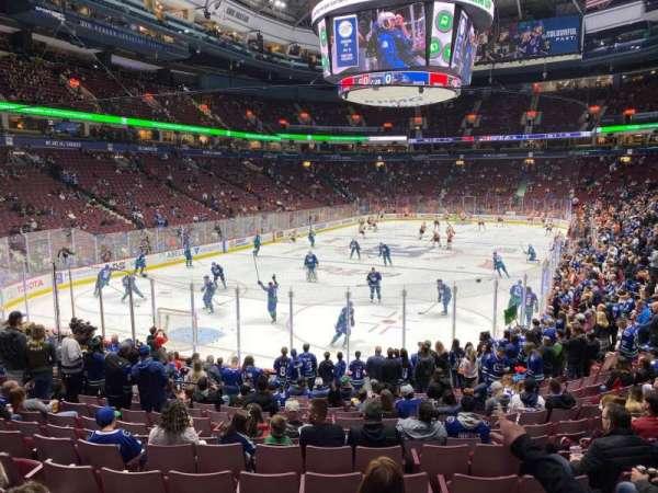 Rogers Arena, secção: 121, fila: 16, lugar: 104