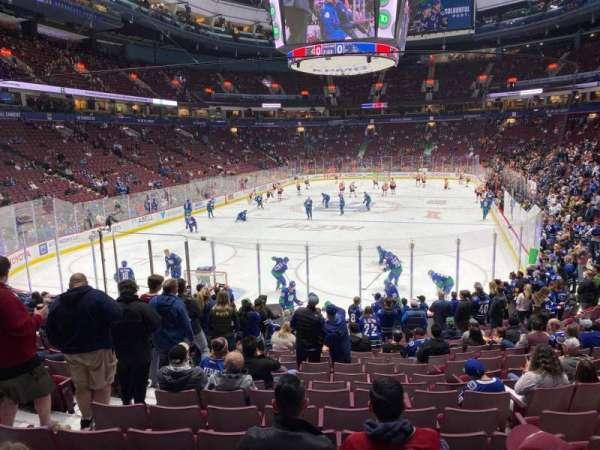 Rogers Arena, secção: 122, fila: 16, lugar: 7