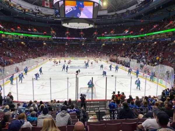 Rogers Arena, secção: 101, fila: 15, lugar: 7