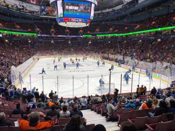 Rogers Arena, secção: 101, fila: 16, lugar: 103