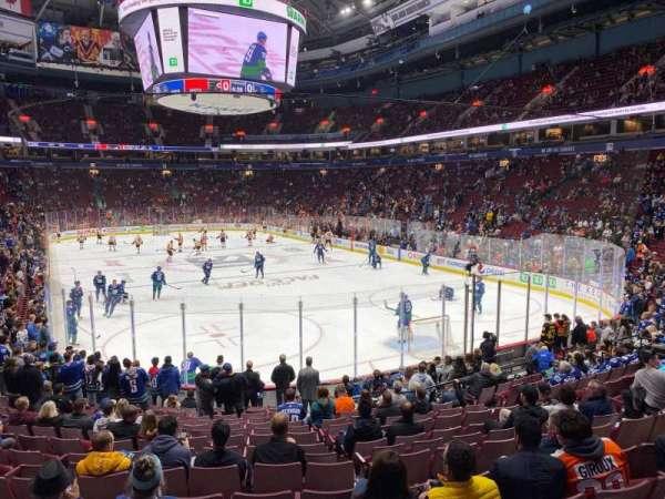 Rogers Arena, secção: 102, fila: 16, lugar: 6