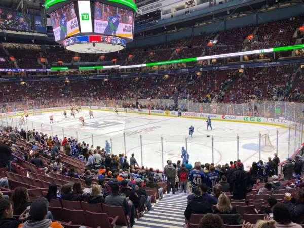 Rogers Arena, secção: 103, fila: 17, lugar: 1