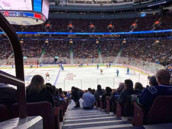 Rogers Arena, secção: 105, fila: 22, lugar: 1