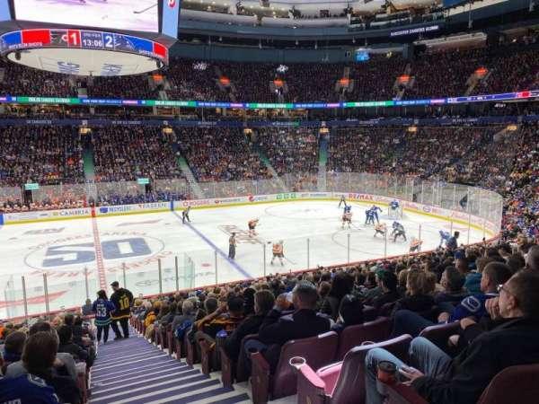 Rogers Arena, secção: 106, fila: 22, lugar: 101