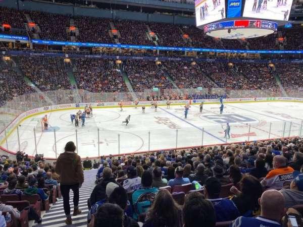 Rogers Arena, secção: 106, fila: 20, lugar: 1