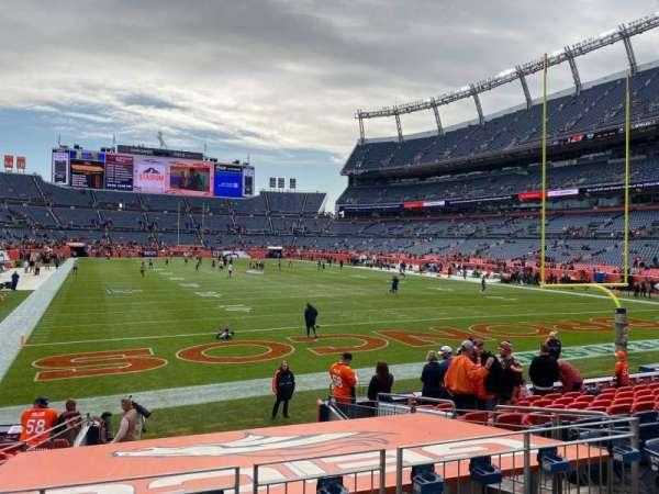 Empower Field at Mile High Stadium, secção: 116, fila: 12, lugar: 7
