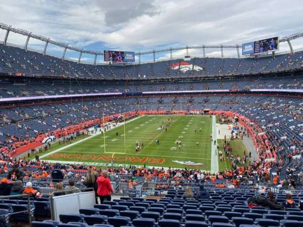 Empower Field at Mile High Stadium, secção: 230, fila: 16, lugar: 23