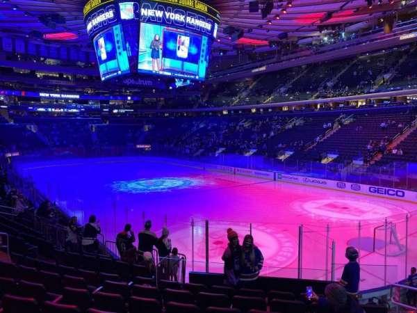 Madison Square Garden, secção: 110, fila: 13, lugar: 16