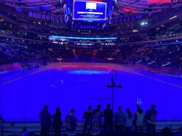 Madison Square Garden, secção: 112, fila: 7, lugar: 5
