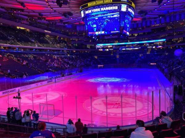 Madison Square Garden, secção: 113, fila: 12, lugar: 10