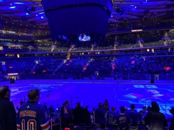 Madison Square Garden, secção: 118, fila: 15, lugar: 6