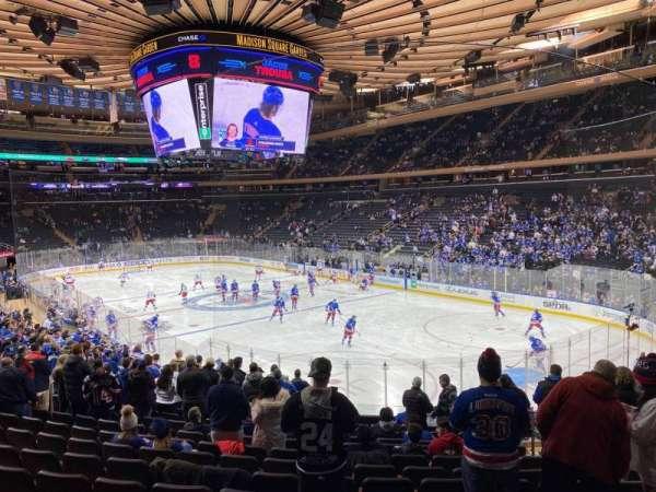 Madison Square Garden, secção: 120, fila: 18, lugar: 17