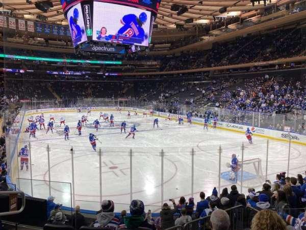 Madison Square Garden, secção: 101, fila: 10, lugar: 5