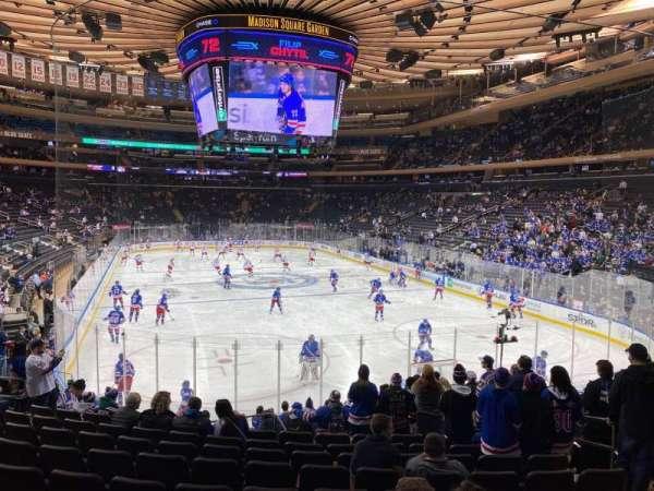 Madison Square Garden, secção: 101, fila: 15, lugar: 15