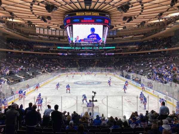 Madison Square Garden, secção: 102, fila: 14, lugar: 10