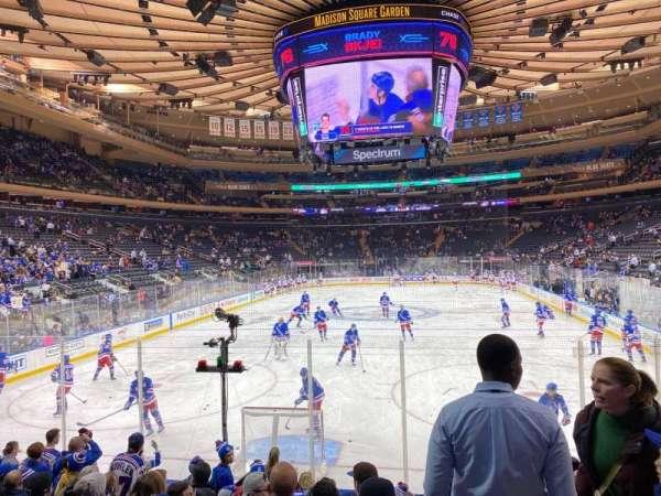 Madison Square Garden, secção: 102, fila: 8, lugar: 16