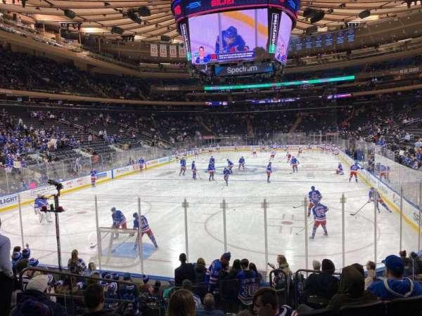 Madison Square Garden, secção: 103, fila: 10, lugar: 5