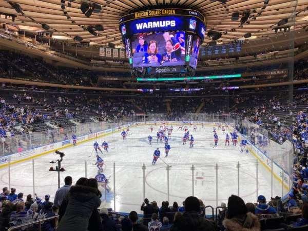 Madison Square Garden, secção: 103, fila: 12, lugar: 3