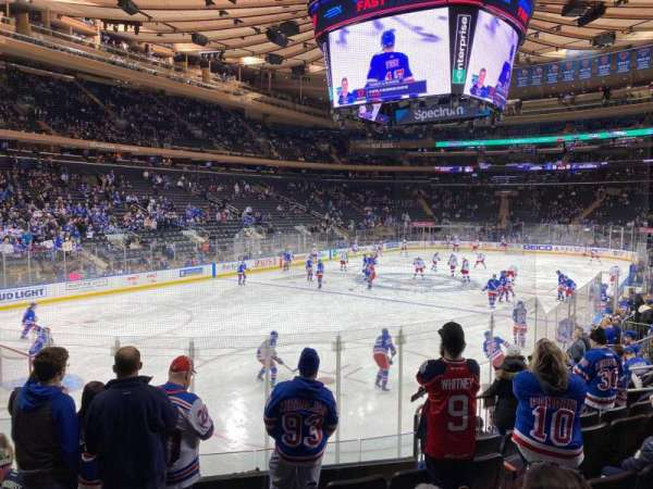 Madison Square Garden, secção: 104, fila: 10, lugar: 4