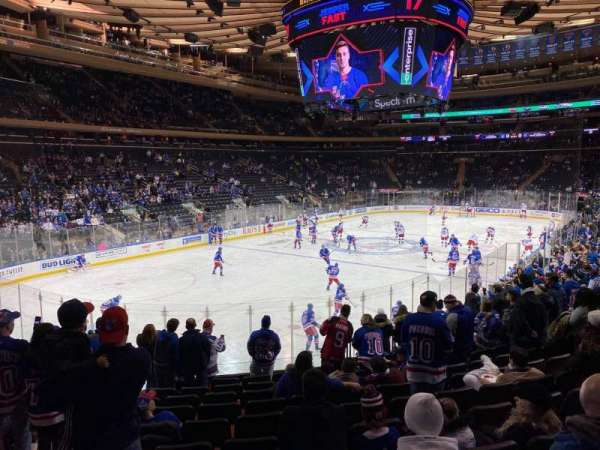 Madison Square Garden, secção: 104, fila: 15, lugar: 5