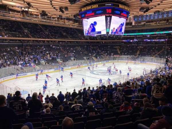 Madison Square Garden, secção: 104, fila: 21, lugar: 15