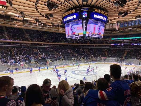 Madison Square Garden, secção: 105, fila: 18, lugar: 5