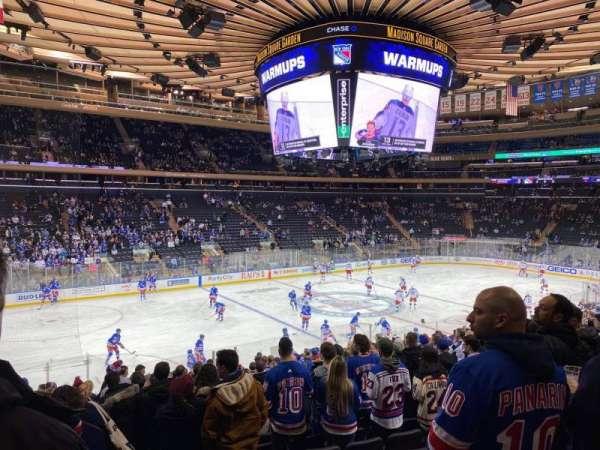 Madison Square Garden, secção: 105, fila: 19, lugar: 10