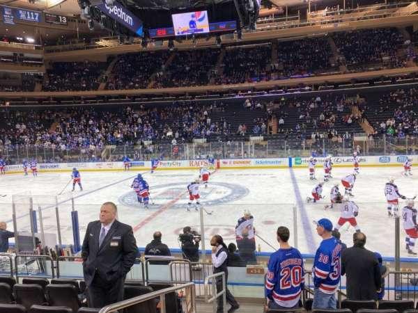 Madison Square Garden, secção: 108, fila: 7, lugar: 1